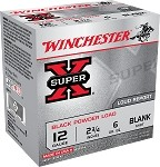 Winchester 12 Gauge Black Powder Blank, 25/box