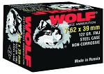 Wolf Polyformance 7.62x39mm 123gr FMJ Steel Case Ammunition, 20bx