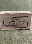 .223/5.56mm Military Blank (M200CS), 20/box *BROWN BOX SURPLUS*